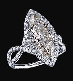 3.91 Carat marquise diamond ring white gold pave diamonds ring on Etsy, $18,355.00