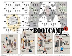 Starting November 1st, 2014!!! The 30-Day Bootcamp Challenge   Follow us daily for motivation and inspiration at www.facebook.com/jodi.higgs.56  20 all-original monthly challenges!