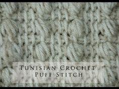 My Tunisian Crochet: Tunisian Puff Stitch
