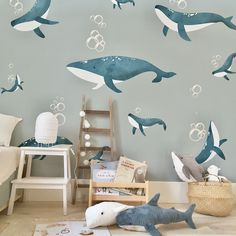 Little Hands Wallpaper - made by measure Childrens Bedroom Wallpaper, Kids Room Wallpaper, Bedroom Murals, Bedroom Themes, Baby Boy Rooms, Baby Room, Little Hands Wallpaper, Nursery Decor, Room Decor