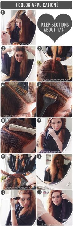 The Beauty Department: Your Daily Dose of Pretty. - AT HOME ROOT TOUCH UP. Excellent guide to home dye!!