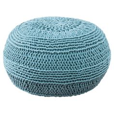 ColorCable Knit Ottoman Color: Blue - http://delanico.com/ottomans/colorcable-knit-ottoman-color-blue-519642297/