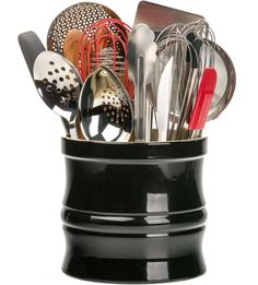 Cool Add The Large Utensil Crock To Your Kitchen To Store Cooking Utensils  Or Even To