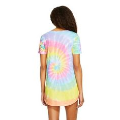 6e3f3c02d0 Women's Troll Doll Crazy Hair Don't Care Sleep T-Shirt Shirt XL Yellow