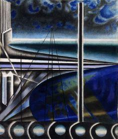 Metropolitan Port by Joseph Stella / American Art