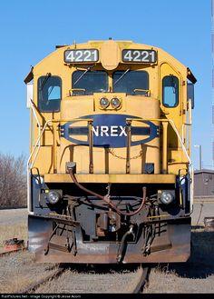RailPictures.Net Photo: NREX 4221 National Railway Equipment (NREX) GE B23-7 at Leader, Saskatchewan, Canada by Jesse Acorn