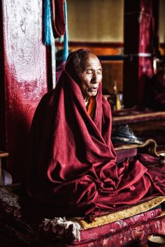 Each morning the monastery at Thiksey in Ladakh, India (among the Himalayas) holds prayers at 6.30am. By Andy Beirne.