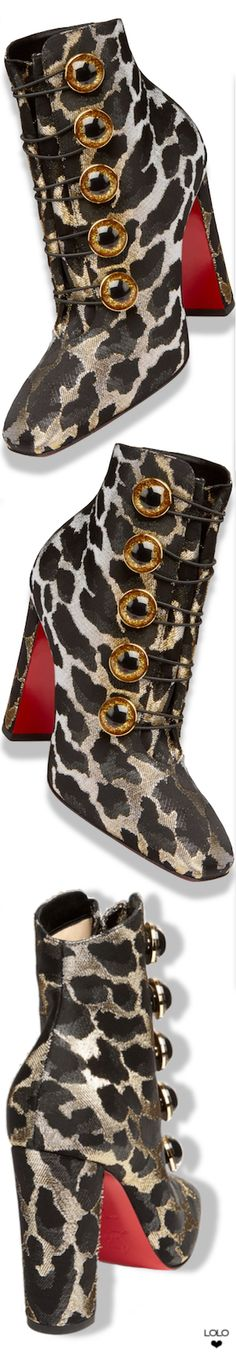 3a076b537ba7 Christian Louboutin Lady See Lurex Feline Booties  christianlouboutin  Louboutin Shoes