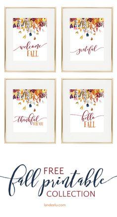 Free Thanksgiving Printables, Thanksgiving Crafts, Fall Crafts, Diy And Crafts, Free Printables, Printable Art, Printable Designs, Handmade Crafts, Decor Crafts