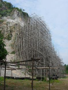Bamboo scaffolding - Cambodia