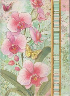 Orchid Tapestry Journal 8 x 6 Diary Covers, Over The Years, Orchids, Decoupage, Tapestry, Journal, Studio, My Love, Spring