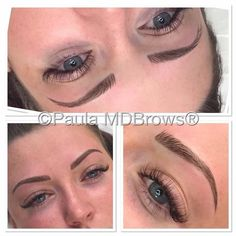 Our very talented Paula McDonald just can't help being the 'True' permanent Brow Artist around here!