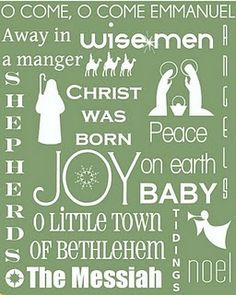 Great Christmas Word Art