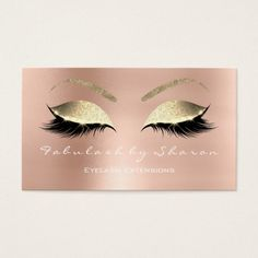 Makeup Eyebrow Lashes Glitter Diamond Blush White Business Card