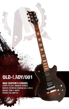 MAD OL001 OLD-LADY custom made electric guitar