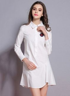 cd0821719c58 White Cotton Dress Black Pink White Cotton Others Long Sleeve Above Knee  Dresses White Cotton Summer