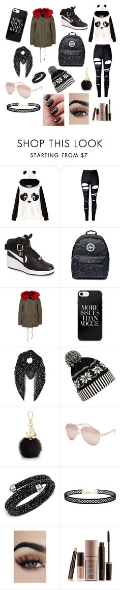 """#winter creations"" by ajla-softicc ❤ liked on Polyvore featuring WithChic, NIKE, New Look, Yves Saint Laurent, Furla, Full Tilt, Swarovski, LULUS and Laura Mercier"