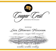 2009 Cougar Crest Late Harvest Viognier Walla Walla Valley Cougar Hills Vineyard Estate 750 Ml -- You can find out more details at the link of the image. (This is an affiliate link) Walla Walla, Growing Grapes, Cabernet Sauvignon, Wine Gifts, Wine Tasting, Red Wine, Vineyard, Washington State, Image Link