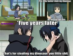 dont steal Itachi's dinosaur man