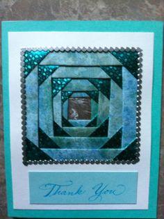 Thank You iris folding by Carolyn Michelsen