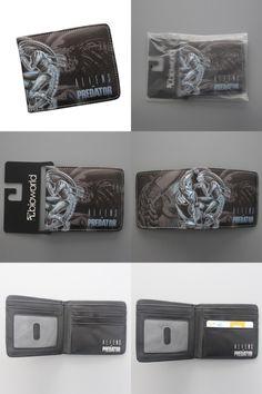 [Visit to Buy] carteira Science Fiction Movie ALIEN VS PREDATOR Wallet & Purse Leather Men Money Bag Card Holder Slim Anime Wallet Dollar Price #Advertisement