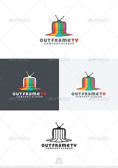 Out Frame TV Logo #cinema #color #colorful • Available here → http://graphicriver.net/item/out-frame-tv-logo/4247382?s_rank=35&ref=pxcr