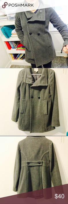 Comfy gray pea coat Cody and very warm grey pra coat. Lined. From silence and noise. Super chick for fall and winter Urban Outfitters Jackets & Coats Pea Coats