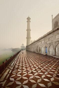 The Back of The Taj Mahal, India |