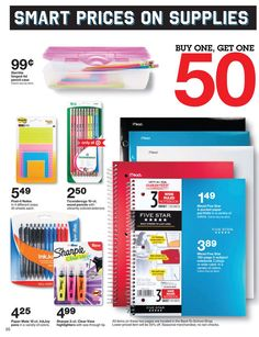 Target hinged-lid pencil BUY ONE, GET ONE off. Lower-priced item will be off. no rain checks. Colors vary by store. Back-To-School Shop. no rain checks. Back To School 2017, Back To School Shopping, School Grades, No Rain, Sharpie, Family Life, Get One, School Supplies, Saving Money
