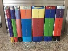 HARRY-POTTER-Philosopher-039-s-Stone-Set-7-Hardback-Bloomsbury-1st-Edition-Books-T