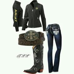 Cute black ariat outfit ;)