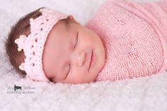 Crochet baby crown, Baby girl tiara, First birthday princess crown, Little girl pink crown, Baby girl hair accessories Toddler crown