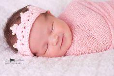 Crochet baby crown, Baby girl tiara, First birthday princess crown, Little girl pink crown, Baby girl hair accessories Toddler crown