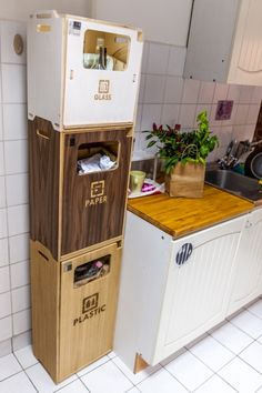 Recycle Bins For Home Unique Recycle In Style Organized Kitchen  Pinterest  Stylish 2018