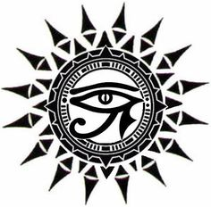 unique Tattoo Trends - ☥Δ Ojo de Horus y Sol Δ☥ Body Art Tattoos, Tattoo Drawings, Tribal Tattoos, Sleeve Tattoos, Taino Tattoos, Unique Tattoos, Cool Tattoos, Tatoos, Rundes Tattoo