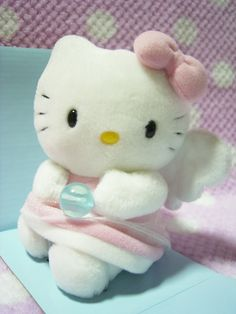 "HELLO KITTY Kawaii Angel Plush Doll Toy Sanrio Japan 2001 RARE! :  *Condition*  NEW in box (The box has gotten stained a bit due to age.)  This was made by Sanrio JAPAN in 2001! SUPER RARE!  *Size*  About  4.7"" (12cm) in sit  49.99-64.99 (11-12-16.50)"