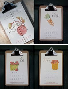Freckle Paper's 2012 Farm Stand Finds calendar