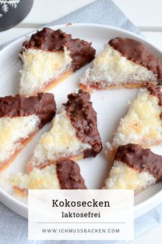 Kokosecken mit Schokoglasur - Ich muss backen Coconut corners with chocolate icing - I have to bake Cookies And Cream Cake, Butter Cookies Recipe, Best Sugar Cookies, Coconut Cookies, Chocolate Cookie Recipes, Chocolate Icing, Homemade Chocolate, Chocolate Chips, Easy Cheesecake Recipes