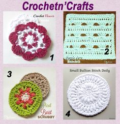 May's designers corner is aimed at crochetncrafts. Rhelena has written many patterns from afghan squares to ladies wraps, I have listed below
