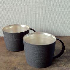 Hattori Tatsuya-san's silver lined coffee cups