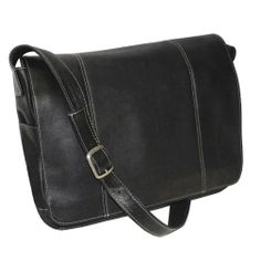 """Royce Leather Vaquetta Leather 13"""" Laptop Messenger Bag Colombian Vaquetta Cowhide Leather VLMB-BLK"""