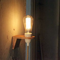 Wandlampe, Mauer, Holz, Leuchte, dekorative, Beleuchtung, Industriel, lampen, VLO design, turquoise, Wandleuchten, Schalter, Wandleuchte