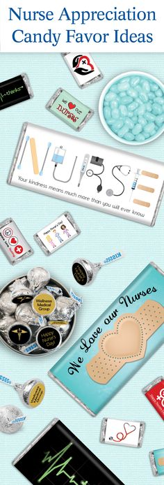 Nurse Appreciation Gifts: Personalized Candy Bars and Stickers for KISSES Candy - Affordable Nurse's Week and Nurse's Day Gifts to show you care! Nurses Week Gifts, Staff Gifts, Nurses Day, Nurse Gifts, Teacher Gifts, Nurses Week Ideas, Medical Gifts, Memes Humor, Ecards Humor