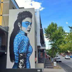 Nuovo muro di Fin DAC a Melbourne, Australia.