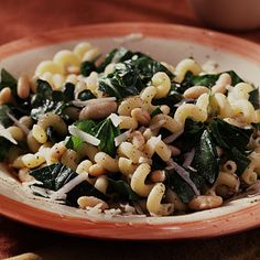 Cavatappi with Spinach, Beans, and Asiago Cheese - no complaints over spinach with this dish. Serve it up for the family