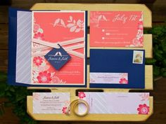 Colorful Wedding Invitation Sets Wedding Invitations Photos on WeddingWire... I like the colors, maybe not the flowers and the birds