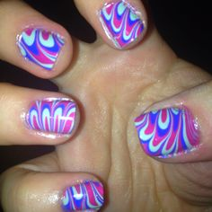 Water Marbling--maybe with more warmer and less vibrant colors....