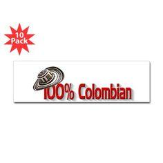 Shop Colombian Sticker (Bumper 10 pk) designed by An American Hug. Bumper Stickers, Hug, The 100, American, Design, Colombia, Bumper Stickers For Cars, Design Comics, Cuddling