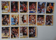 1991-92 Upper Deck Series 1 Trailblazers Team Set Of 16 Basketball Cards #PortlandTrailblazers