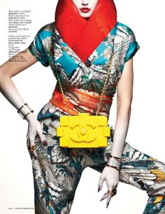Futuristic Geisha Editorials - Eugenia Volodina by Ishi for Vogue Netherlands March 2013 is Fierce (GALLERY)